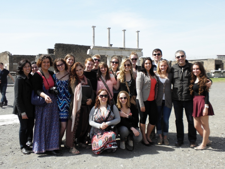 Group Photo in Pompei
