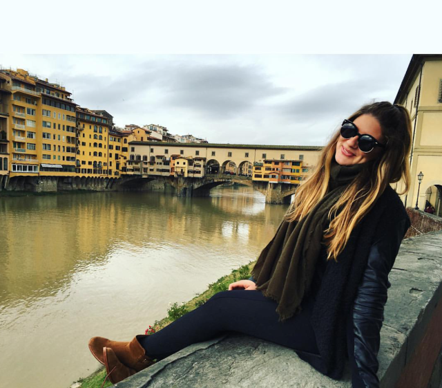 Remi Bader abroad in Florence